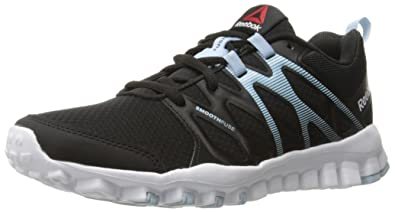 Womens Shoes Reebok RealFlex Train 4.0 Black/Zee Blue/White