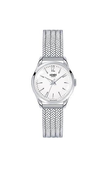 Henry London Reloj Analógico para Unisex de Cuarzo con Correa en Acero Inoxidable 5018479077305: Henry London: Amazon.es: Relojes