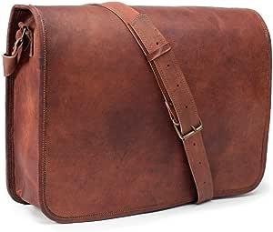 Vintage Crafts Leather Full Flap Messenger Handmade Bag Laptop Bag Messenger Bag Satchel Bag