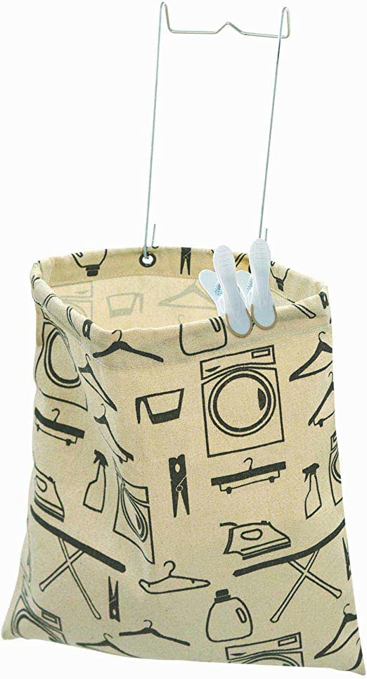 Neatfreak 05400 Pt117c 006 Bolsa Para Pinzas De Ropa Color Beige Y Negro Home Kitchen