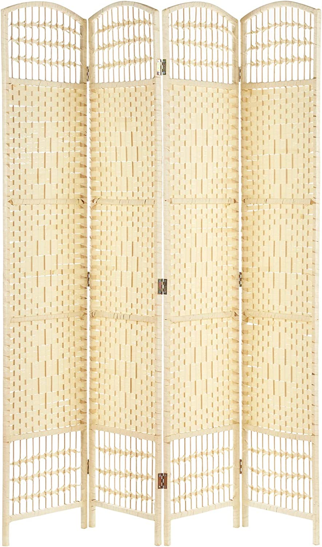 Hartleys Mampara de mimbre de 4 paneles hecha a mano: Amazon.es ...