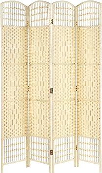 Hartleys Mampara de mimbre de 4 paneles hecha a mano: Amazon ...