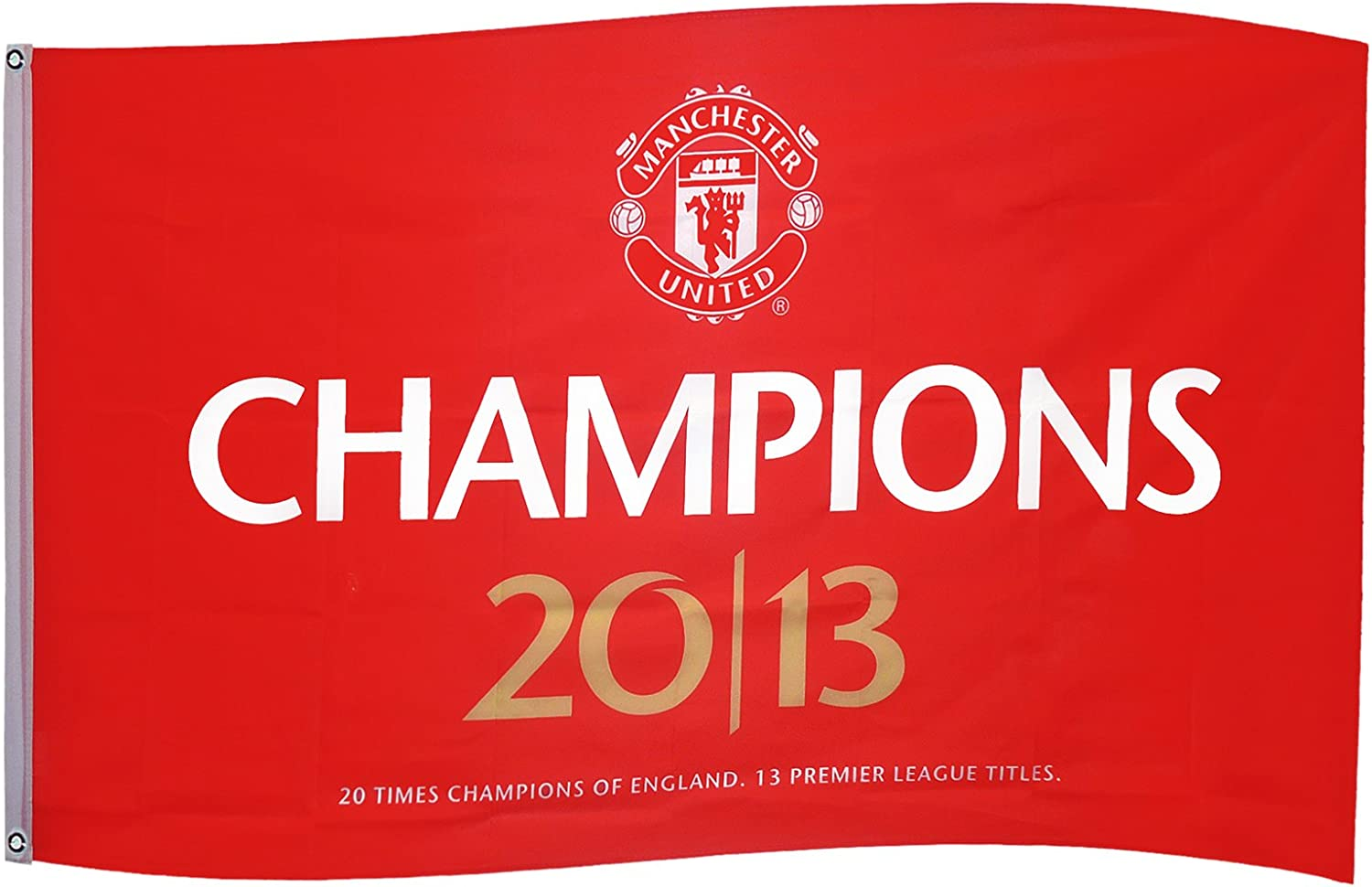 Manchester United 20 League Titles Flag Multi Colour Amazon Co Uk Sports Outdoors