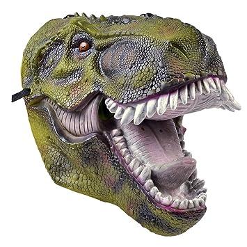 Bristol Novelty BM506 dinosaurio PVC máscara de adultos, talla única