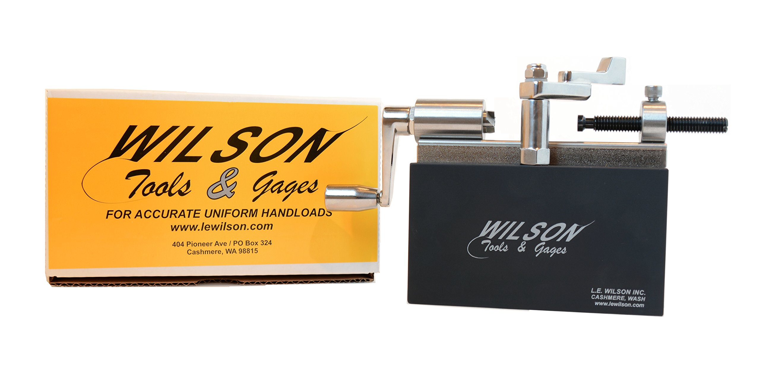 L.E. Wilson CTS-17KITU Case Trimmer Kit Stainless Steel 17 Caliber, Stand & Clamp Included, Stainless Steel/Black Oxide/Electro Plated