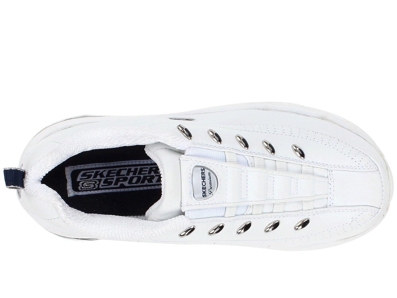 Skechers Women's Premium-Latest Craze Sneaker B07CBM1SPV 7 B(M) US|White/Navy