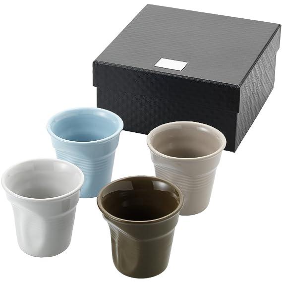 eBuyGB expendedoras Taza Estilo Arrugado Espresso Set, cerámica, 4,2 x 6,4 x 6,3 cm: Amazon.es: Hogar