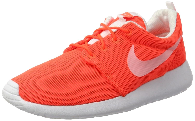 Nike Herren Roshe One Br Sneaker, Weiszlig;-Weiszlig;, 40.5 EU  43 EU Orange (Total Crimson/White)