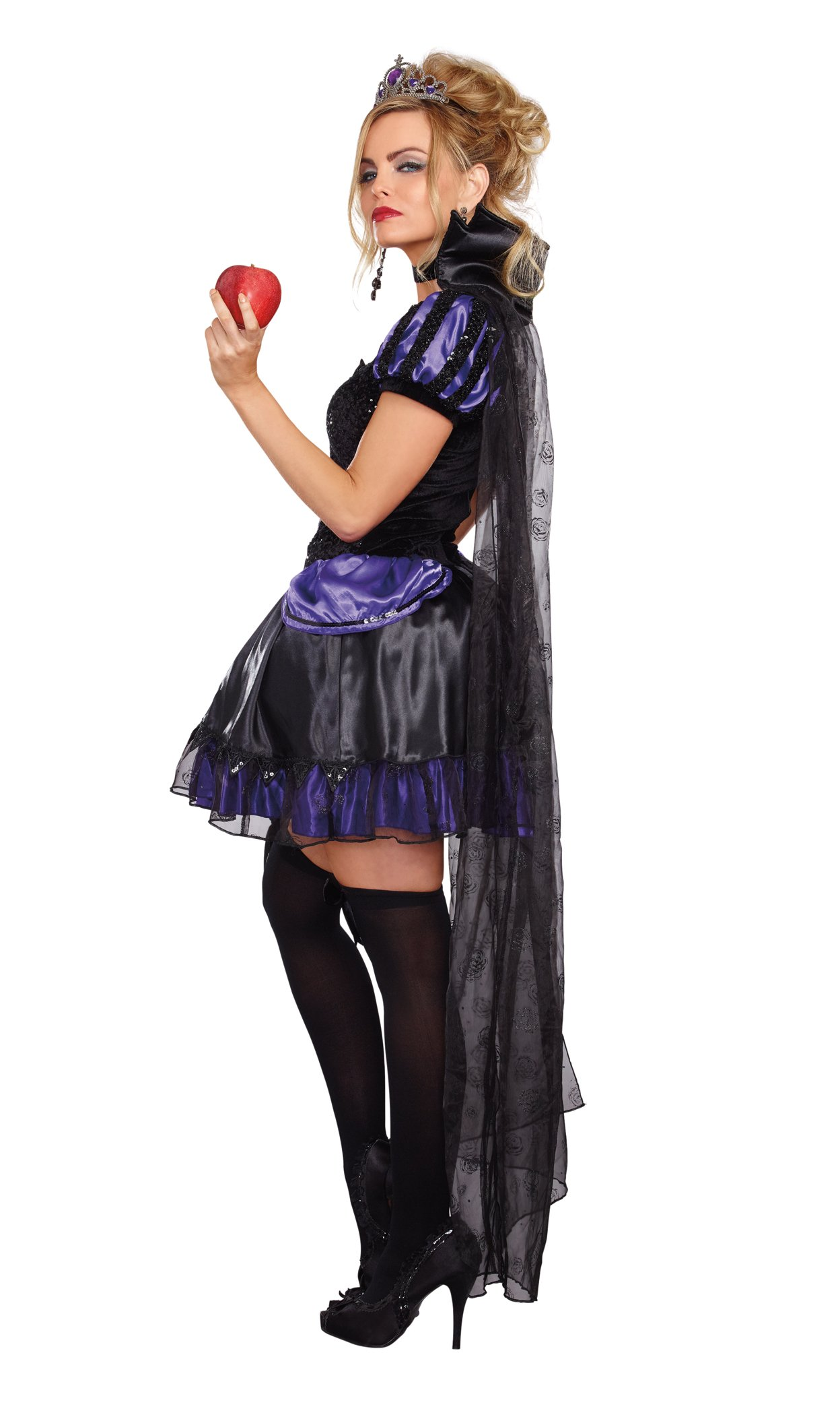 Dreamgirl Women's Evil Queen Costume, Black/Purple, Large by Dreamgirl (Image #2)