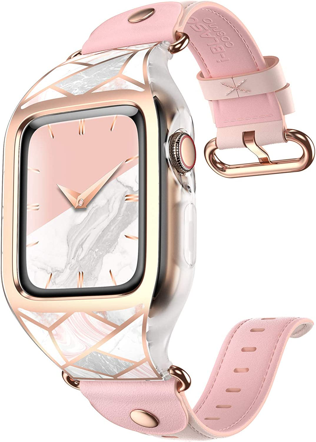 i-Blason Band Designed for Apple Watch Series 6/SE/5/4 [44mm], [Cosmo] Stylish Sporty Protective Bumper Case with Adjustable Strap Bands