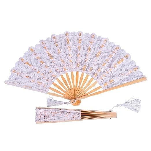 Victorian Hand Fans – Ladies Fans Remedios Vintage Cotton Lace Tassle Hand Fan for Photo Props Decoration $5.99 AT vintagedancer.com