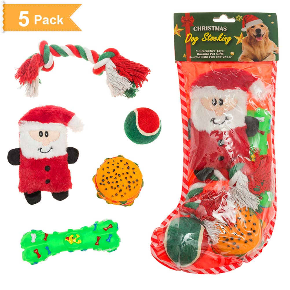 Pet Supplies : SCENEREAL Christmas Dog Toys Xmas Gifts Interactive ...