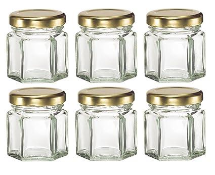 Amazon Mini Hexagon Glass Jars For Jam Honey Wedding Favors