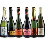 金賞ワイン入り 世界の辛口 スパークリングワイン 飲み比べ 6本セット(チリ フランス イタリア)750ml×6本