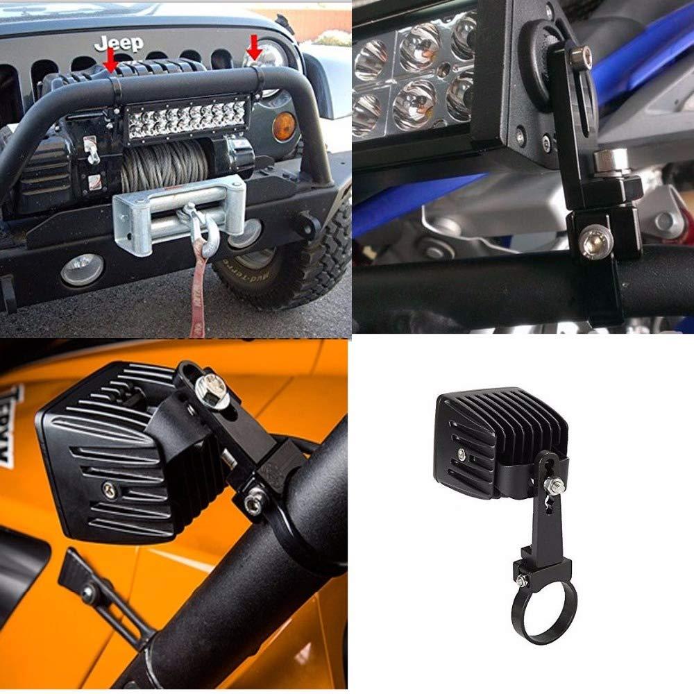 2Pcs 1 inch 1 Aluminum Tube Bull//Roll Bar Mount Bracket Clamps Holder LED Car Truck Off Road Work Light