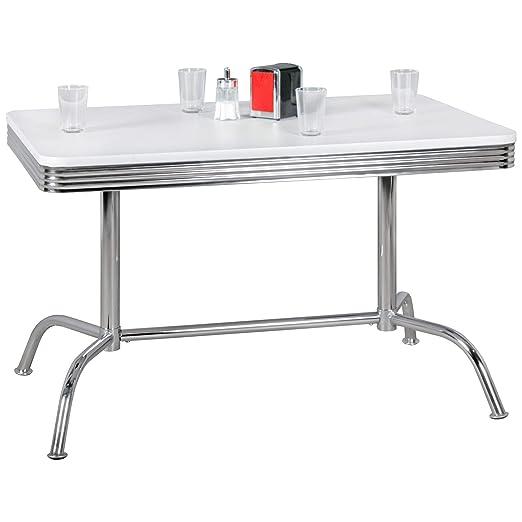 BuyDream - Mesa de Comedor (120 cm, Tablero de Madera DM, Aluminio ...
