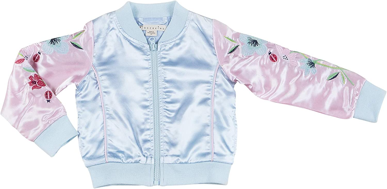 Kinderkind Girls Varsity Bomber Jacket Sizes 2T-3T-4T-5T-6-7
