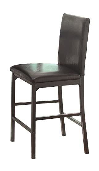 Homelegance 2601 24 Bi Cast Vinyl Metal Frame Chair, Dark Brown, Set