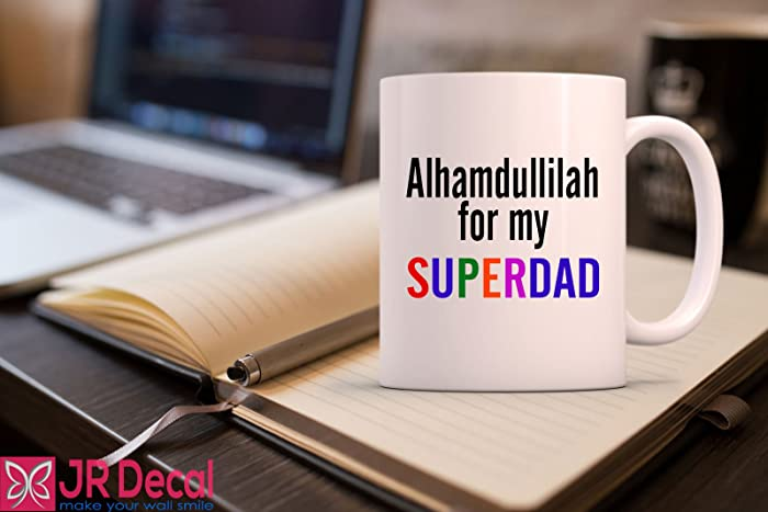 Alhamdulillah for my superdad printed islamic mug best eid gift alhamdulillah for my superdad printed islamic mug best eid gift for dad islamic mug morning negle Choice Image