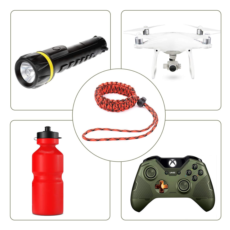 Binoculars and Nikon//Canon//Sony//Minolta//Panasonic//SLR//DSLR Digital Cameras MoKo Universal Paracord 2 Pack Black /& Red//Black Nylon Braided Adjustable Camera Hand Grip Strap for Video Camcorder