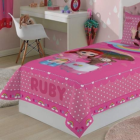 8ff0d23643 Jogo de Cama 3 Peças Infantil Menina Rainbow Ruby Lepper  Amazon.com.br   Casa