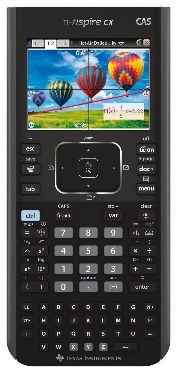 Texas Instruments TI Nspire CX CAS Calculadora gráfica pantalla de  tecla