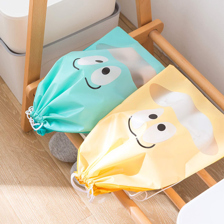 LAMTWEK 8 Piezas Bolsas de Zapatos Bolsa Impermeable Telas no Tejidas con Ventana Transparente para Viajes y Hogar Multifunci/ón a Prueba de Polvo para Viajes