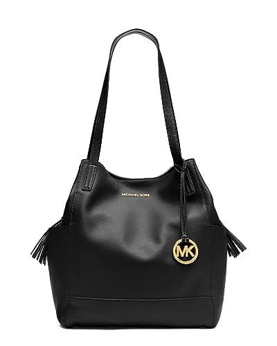 eef383e3f425 Michael Kors Extra Large Ashbury Grab Leather Bag in Black: Handbags ...