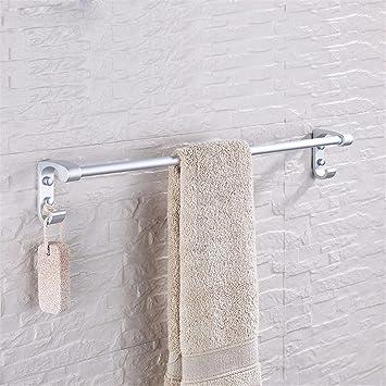 MmDLai Junco Azul Aluminio Espacio Rack De Toallas Toallas De Baño De Una Sola Barra Colgador De Toallas Baño Percha Colgante 7724 Toalleros Repisa: ...