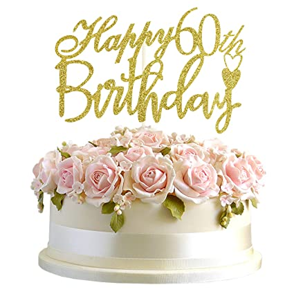 Amazon.com: Junucubo - Decoración para tarta de 60 ...