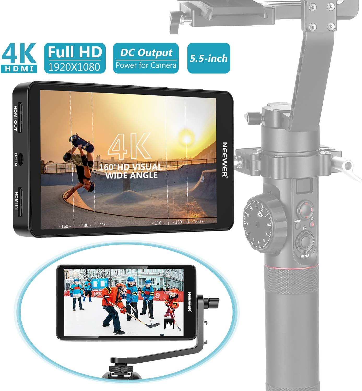 Neewer FW568 14cm Monitor Campo con Cámara 4K HDMI 8,4V DC Entrada ...