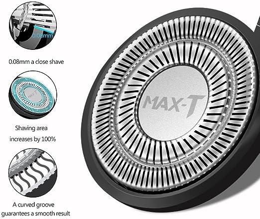 MAX-T 3 x Cabezal de Recambio para Afeitadora MAX-T: Amazon.es: Salud y cuidado personal