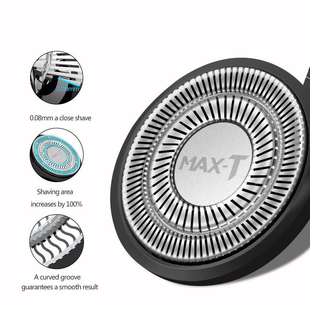 Elektrische Rasierer 5 LED Anzeige USB Aufladen Rotationsrasierer mit Pop-up Trimmer IPX7 Wasserdicht Nass und Trocken für Männer (USB Aufladen)