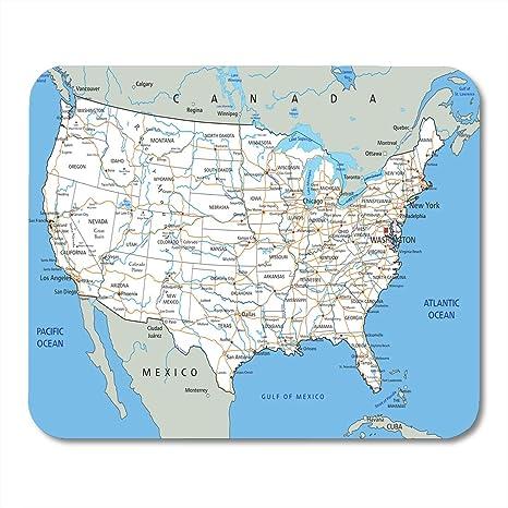 Amazon.com : Emvency Mouse Pads USA High Detailed United ...