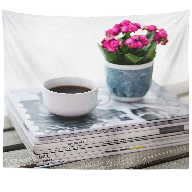 Amazon.com: Berrykey Flowerpot Plant - Wall Hanging Tapestry ...