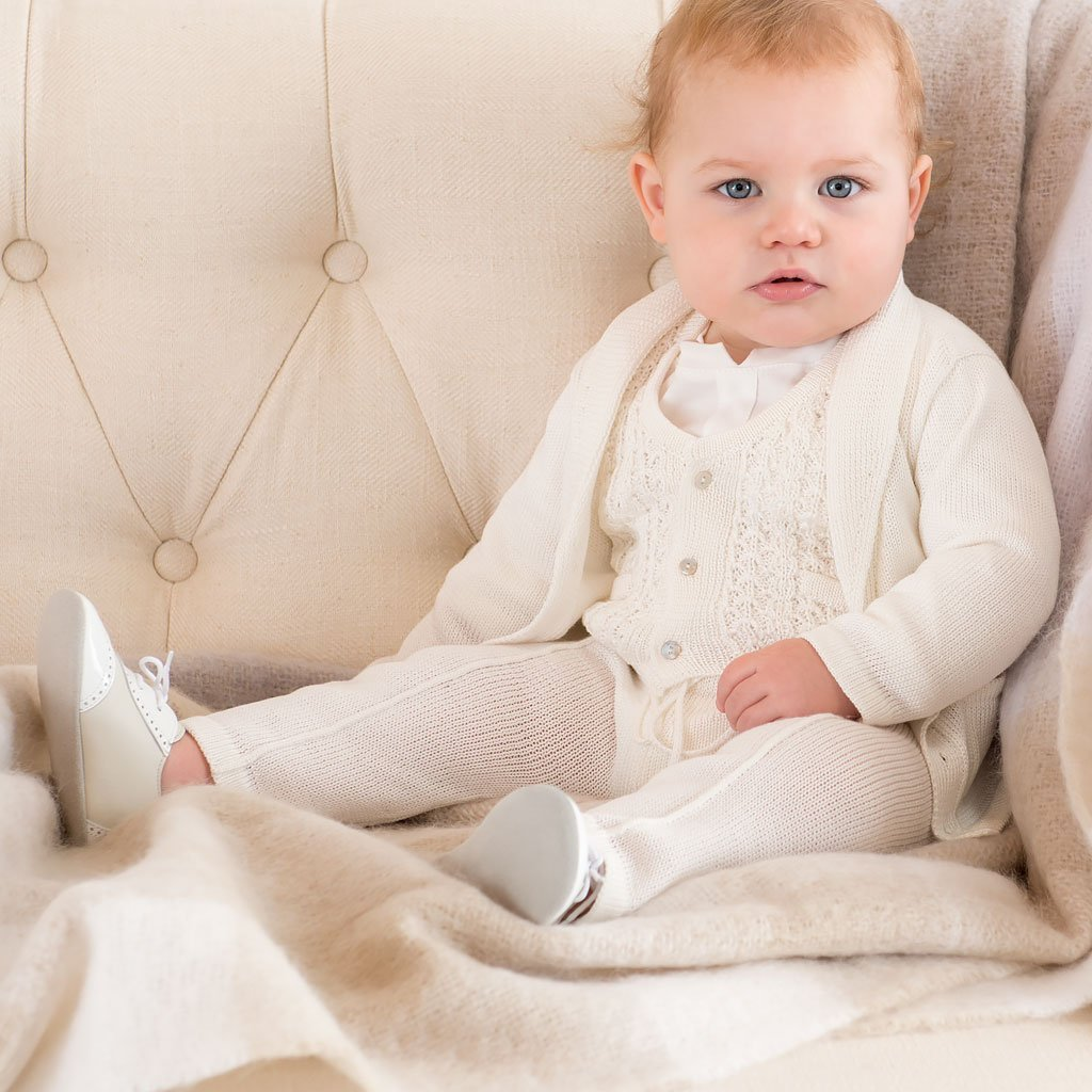 Luca Christening and Baptism Suit Set by Baby Beau & Belle