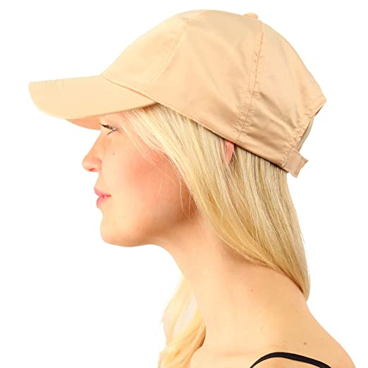Everyday Satin Light Plain Blank Baseball Sun Visor Solid Ball Cap Dad Hat  Beige 53e83f23b2fd