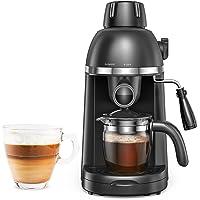 Steam Espresso Machine with Milk Frother, 1-4 Cup Expresso Coffee Maker, Cappuccino Latte Machine Includes Carafe, No…