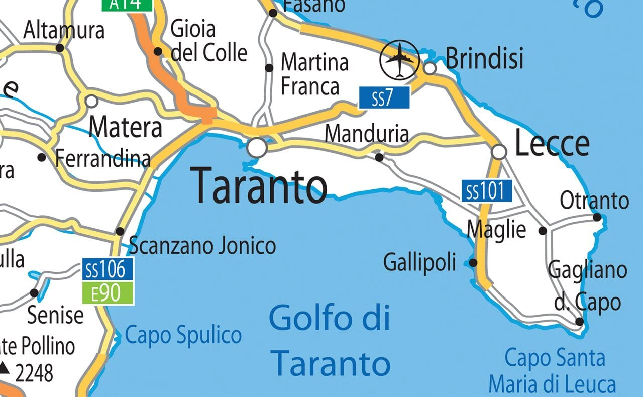 Cartina Geografica Italia Gallipoli.Cartina Stradale Dell Italia Con Carta Plastificata Misura A1 59 4 X 84 1 Cm Amazon It Cancelleria E Prodotti Per Ufficio