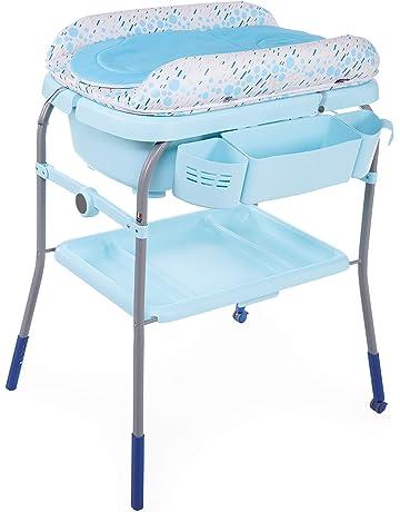 Chicco Cuddle & Bubble - Bañera cambiador compacta 2en1, 10 kg, color azul (