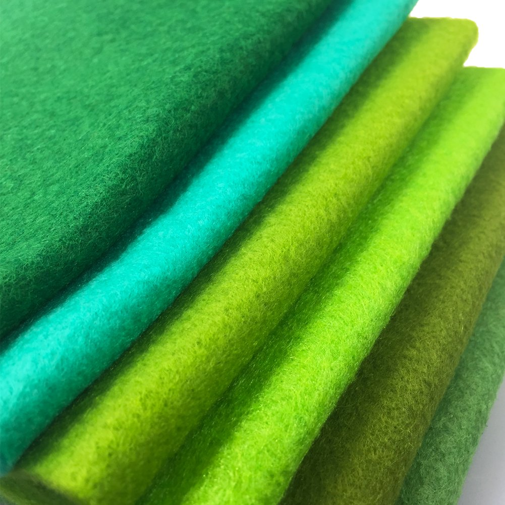 flic-flac 42pcs1.4mm Thick Soft Felt Fabric Sheet Assorted Color Felt Pack DIY Craft Sewing Squares Nonwoven Patchwork (30cm 30cm) by flic-flac (Image #6)