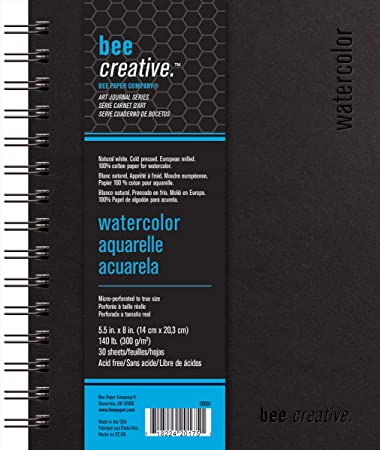 Pentalic 100-Percent Cotton Watercolor Journal 5-Inch by 8-Inch