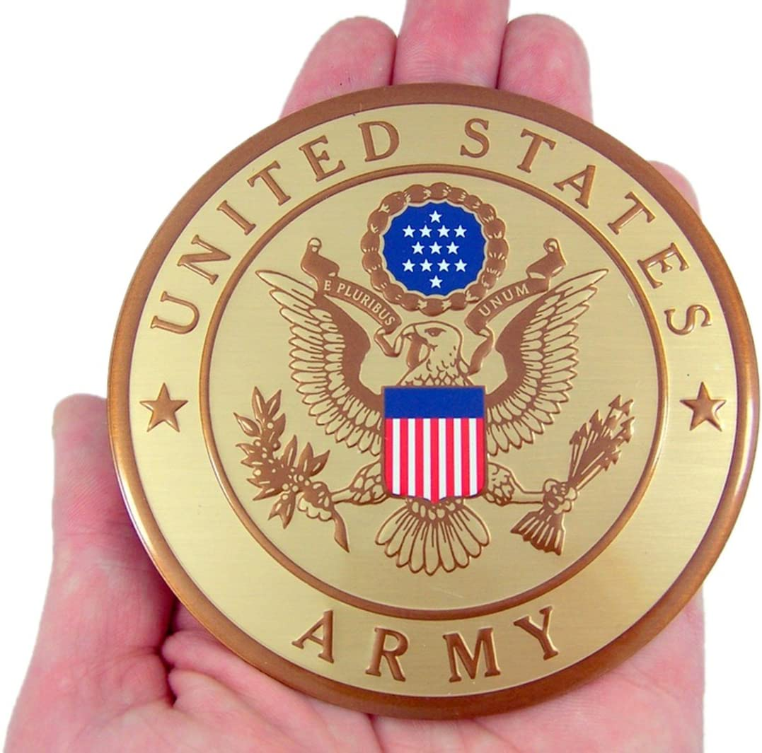 4 Inch United States Military Navy Metal Decal Emblem