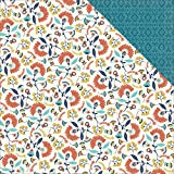 """My Minds Eye HC1005 25 Sheet Wanderlust Happy Camper Double-Sided Cardstock, 12"""" by 12"""", Multicolor"""