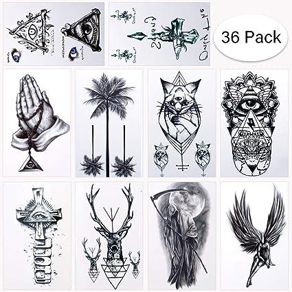 Brt 36 Hojas Tatuajes Temporales A Prueba De Agua Tatuajes Falsos