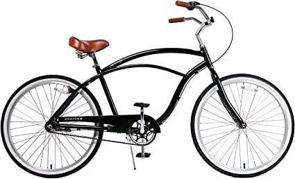 Fito Mens Marina 2.0 Aluminum Alloy 3 Speed Beach Cruiser Bike