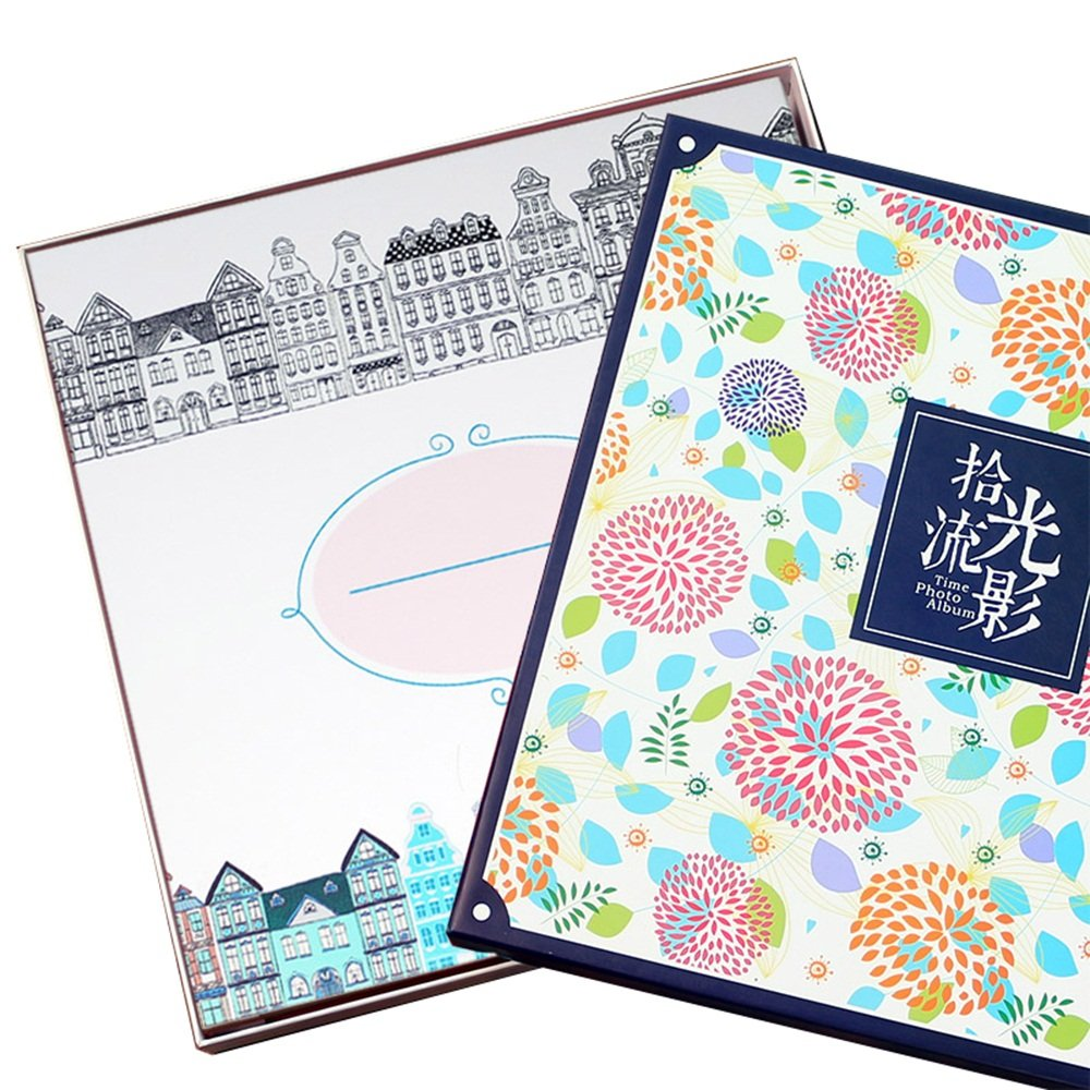 Baby growth album 200 / film paste photo album album / couple creative family DIY hand gift albums 1-10 inch can be posted ( Style : B )