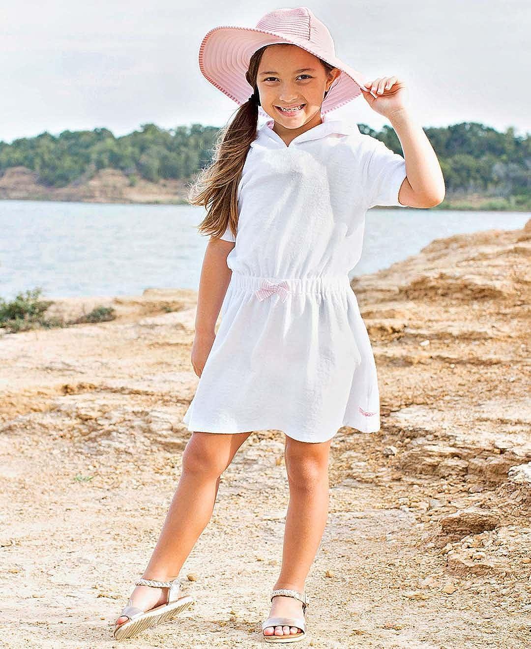 RuffleButts Baby//Toddler Girls Terry Cloth Hoodie Swim Beach Cover Up Dress