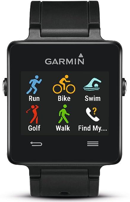 Garmin Vivoactive GPS reloj inteligente con aplicaciones de deportes – negro (Certificado Reformado)