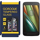 GoRogue Anti-Burst Curved Tempered Glass Screen Protector for Moto E3 Power [E 3rd Generation]